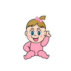 No1 Girls Baby Clipart