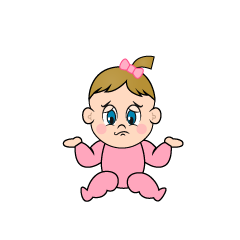 Troubled Girls Baby Clipart