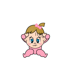 Afraid Girls Baby Clipart