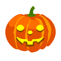 Glowing Smile Halloween Pumpkin Clipart