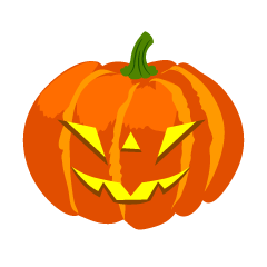 Glowing Cool Halloween Pumpkin Clipart