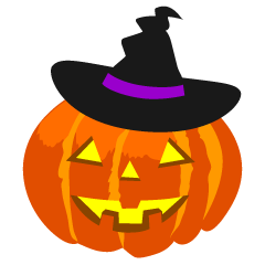 Witch Hat Halloween Pumpkin Clipart