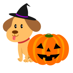 Cute Dog Halloween Pumpkin