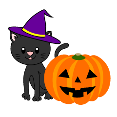Black Cat Halloween Pumpkin