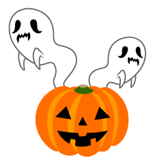 Pumpkin and Ghosts Clipart