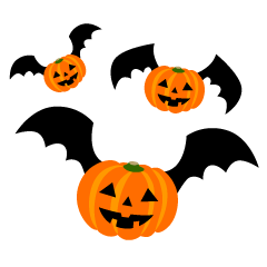 Bat Pumpkins Clipart