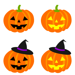Various Kinds of Pumpkin Clipart