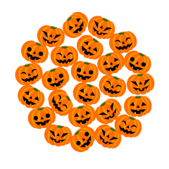 A lot of Pumpkins Circle Clipart