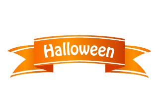 Halloween Ribbon Clipart