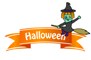 Witch Ribbon Clipart