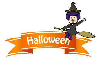 Girl's Witch Ribbon Clipart