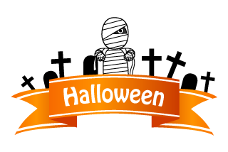 Halloween Mummy Ribbon Clipart