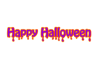 Happy Halloween Purple Text