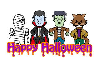 Happy Halloween Text Free Picture|Illustoon