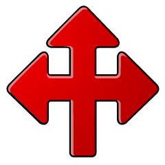 Left Right Front Arrow Symbol