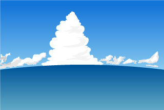 Cumulonimbus of Ocean Background