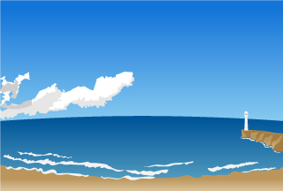 Ocean Lighthouse Background