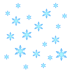 Many Blue Snowflakes Clipart