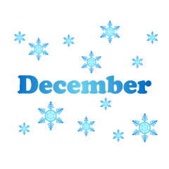 Snowflakes December Clipart