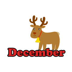 Cute Reindeer December Clipart