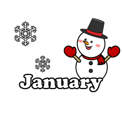 Snowman January Clipart