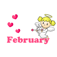 Lovely Angel February Clipart