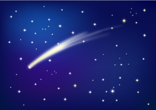 Meteor Night Sky Background