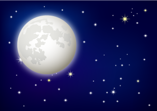 Full Moon Night Sky Background
