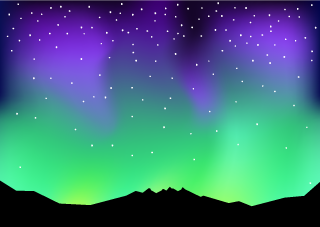 Aurora Night Sky Background