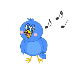 Singing Blue Bird Cartoon