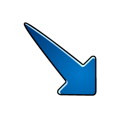Falling Blue Arrow Symbol