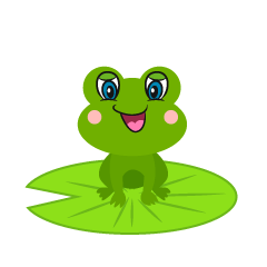 Cute Frog Sitting Cartoon