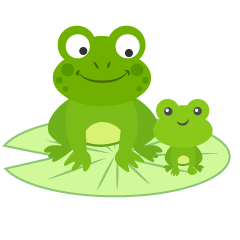 Parent and Child Frogs Clipart