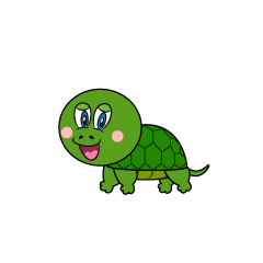 Walking Turtle Cartoon