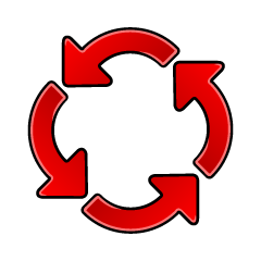 Rotating 4 Arrows Symbol