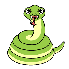 Snake Coil Front Clipart