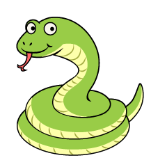 Smile Snake Coil Cartoon