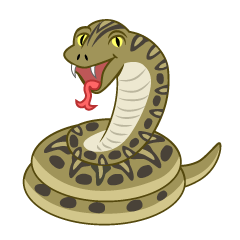 Snake Opened Mouth Clipart