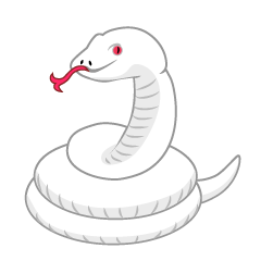 Scary White Snake Clipart