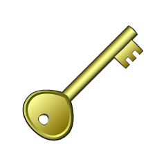 Gold Key Clipart