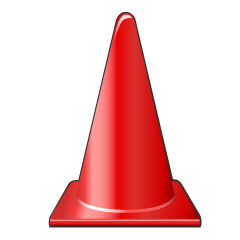 Red Cone Clipart