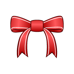 Shiny Red Bow Clipart