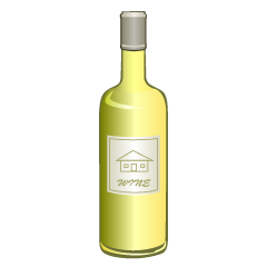 White Wine Bottle Clipart