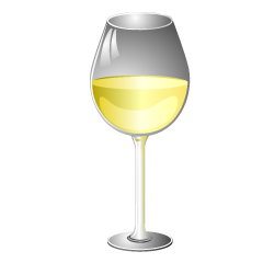 White Wine Glass Clipart