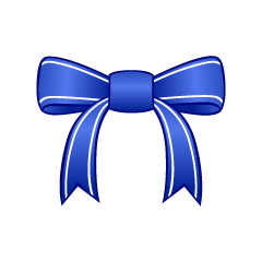 Blue Bow Clipart