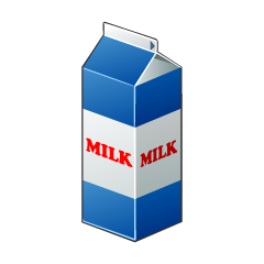 Milk Package Clipart