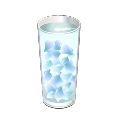 Water and Ice Glass Clipart