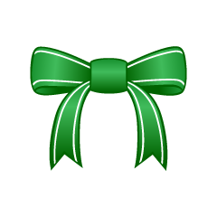 Green Bow Clipart