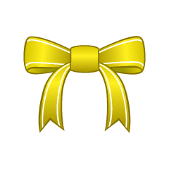 Yellow Bow Clipart