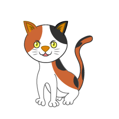Cute Tortoiseshell Cat Clipart